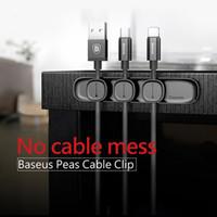 새로운 팝 마그네틱 TPU 케이블 클립 바탕 화면 깔끔한 주최자 USB 충전기 라인 홀더 홈 자동차 충전 케이블 와인 더