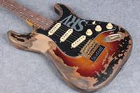Super Rare 10S Custom Shop MasterBuilt Edition Limited Stevie Ray Vaughan Tribute SRV STR Eléctrico Guitarra Vintage Sunburst
