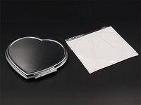 Сердце компактные зеркала увеличительное зеркало небольшой пустой макияж зеркало с наклейками эпоксидной смолы набор DIY # M0838 Бесплатная доставка