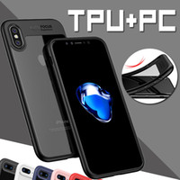 2 en 1 Case Armor Hard PC + TPU Soft Bumper Ultra Thin Anti-drop Transparente Transparente Fundas protectoras para iPhone XS Max XR X 8 7 6 6S Plus