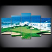 5 Pcs Set Framed HD Printed Golf Course Seascape Modern Wall...