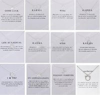 12 Designs Dogeared Necklace With Card Good Luck Elephant Pe...