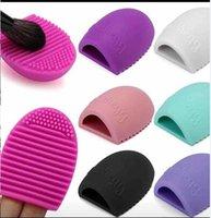 New Hot Brush oeuf Nettoyage Maquillage Lavage Brosse Brosse à oeufs nettoyant Éponge De Silicone Nettoyer Outils DHL Livraison Gratuite + cadeau