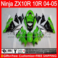 8Gifts 23Colors Body For KAWASAKI NINJA ZX 10 R ZX10R 04 05 ...