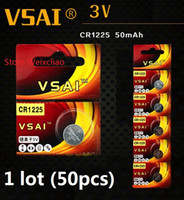 50 pz 1 lotto CR1225 3 V batteria agli ioni di litio pulsante a bottone CR 1225 3 Volt batterie agli ioni di litio VSAI Spedizione Gratuita