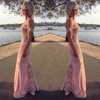 Elegant Long Formal Dresses for Women 2017 Lace Off Shoulder...