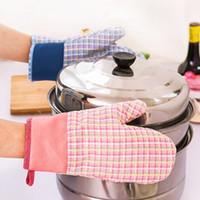 Hotsale yeni mutfak aksesuarları kalınlaşmak kaymaz pamuk polyester baskılı isı geçirmez fırın bakeware ücretsiz nakliye için mikrodalga eldiven eldi ...