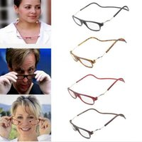 Upgraded Unisex Magnet Reading Glasses Men Women Colorful Ad...