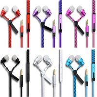 High quality 3. 5mm in- ear Stereo Universal Zipper Earphones ...