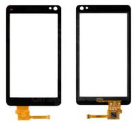 Nokia N8-00 için Dokunmatik Ekran Digitizer Cam Panel Ön Cam Lens Sensörü Logo Ücretsiz kargo + araçları ile