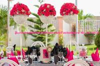 Хорошее качество высокая ваза для свадебный стол центральным украшения стекла Кристалл цветочный горшок