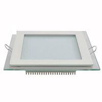LED 다운 라이트 Recessed glass Downlight 라운드 스퀘어 led 천장 패널 라이트 Cool warm white LED lighting AC100-240V CE SAA