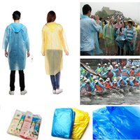 One- time Raincoat Fashion Hot Disposable PE Raincoats Poncho...