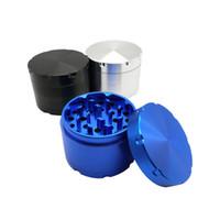 63 MM 4 Capas Durable Amoladora Aluninum Aleación de Metal Placa Magnética Mano Cachimba Pipe Tabaco Pipa que Fuma