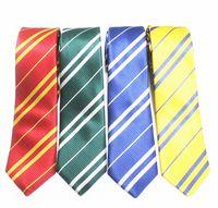 DHL Striped шеи галстук для мужчин школьные галстуки Студенты Gryffindo Ravenclaw Hackfackpuff Slytherin галстук модный аксессуар Хэллоуин подарок