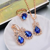 New Arrivals Wedding Gift Jewelry Water Drop Shape Crystal E...