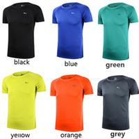 Hombres de secado rápido de deportes al aire libre y de fitness con múltiples colores Tops de manga corta T-shirt