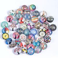 для кнопки Snap ожерелье 18 мм имбирь стекло горный хрусталь оптом ювелирные изделия DIY аксессуары для кожаных подвесок браслеты
