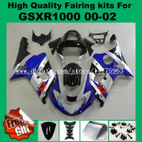 9Gifts Kit fairing kit for GSXR1000 2000 2001 2002 SUUUKI GSX-R1000 00 01 02 Fairings GSXR 1000 00-02 black_drilled black # 733-8A