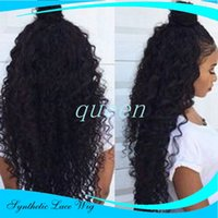 Synthetic Lace Front Wigs With Baby Hair Cheap Afro Syntheti...