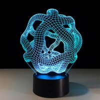 Illusion Ball Art 3D Lamp Night Light 7 RGB Lights Touch But...