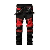 Männlich Brand Jeans Neue Ankunft Marke Desgin Zipper Dekorative Stitching Jeans-Modus Slim Fit Stretch zerrissene Denim Male Jeans