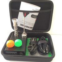 Mini enail E nail dabber box portatile con regolatore di temperatura PID vape con 16mm 20mm Ti titanio con chiodi al quarzo per tubo di vetro acqua