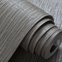 Wholesale- Interior Design Grey Silver Striped Wall Paper Cl...