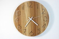 The Wooden Decorative Wall Clock Series Craft Clock Gift Cre...