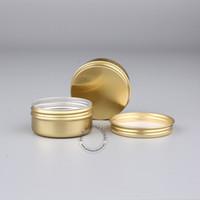 El maquillaje de DIY equipa el tarro de aluminio de oro encantador 50g, envases cosméticos vacíos del metal, caja de aluminio / pote / caja 10pcs / lot