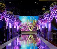 Hochzeits-Mittelstücke Dekoration 1m breiter Glanz Silber Spiegel Teppich Gang Runner für romantische Hochzeit Gefälligkeiten Party Dekoration 2017 Neue LLFA