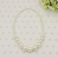 New Baby Girls Necklace Cute Pearl Princess Children jewelry...