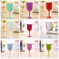 Hot 10oz New Style WINE GLASS Cup Stainless Steel Tumbler Tr...