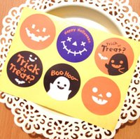 Free shipping Halloween round funny sticker DIY decorative s...