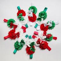 الرضع الطفل رباطات رئيس العصابات عيد الميلاد نمط رث زهرة bowknot 10 تصاميم مماثلة تخليص عصابات عيد الميلاد للأطفال 0-3 سنوات