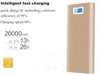 메탈 슬림 전원 은행 20000mah 휴대용 모바일 배터리 백업 충전기 2 개 USB 포트 비상 충전기 아이폰 7 삼성 HTC 샤오 미 화웨이
