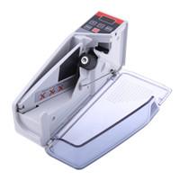 Freeshipping Mini Taşınabilir Handy Para Sayaç çoğu Döviz Not Fatura Nakit Sayma Makinesi için AB-V40 Finansal Ekipmanları Toptan