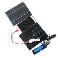 New 3. 5W 5V Solar Panel With DC 3. 5MM Base For 18650 Recharg...