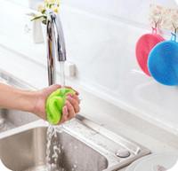 Spazzole per la pulizia della ciotola del piatto magico in silicone Spazzole per la pulizia Spazzole per vaschetta Lavaggio pentole Cucina più pulita