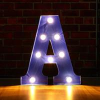 Alphabet A-M Lettre de l'alphabet LED Ampoules Lampe Lampe Éclairage Décoration Symbole Mur d'intérieur Décoration de mariage Feuille de mariage
