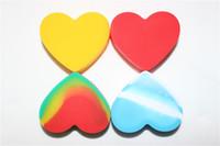Kalp Yapışmaz Silikon Kavanoz DAB Balmumu Konteyner FDA Onaylı Rasta Silikon Balmumu Konteyner Yağ için