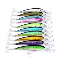 Высокое качество ABS пластик Большая игра Рыбалка Crank приманки 10 цветов 17 см 31 г чешуйчатый лазер гольян бионический нахлыстом приманки