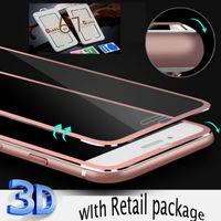 Pantalla 3D curvo Cobertura Total Film Protector para iPhone X 7 8 iPhone 6 / 6s además de cristal templado de la cubierta completa de titanio borde de la película
