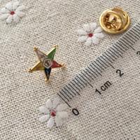 100 pezzi di ordine personalizzato della stella orientale massonico bavero pin massone e spille massoni mestiere in metallo piccoli distintivi carino