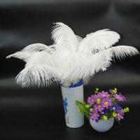 Оптовая продажа 100 шт. Белый страусиное перо шлейф для свадьбы центральным Свадебный декор событие декор питания feative декор