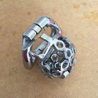 Einzigartige Snap Ring Edelstahl Kleine Männliche Keuschheitsgürtel 36mm, 40mm, 45mm, 50mm Cock Cage mit spike schraube Für Männer Sex Spielzeug