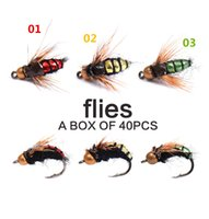 40pcs of Fly Fishing Flies Bionic Insect Fishing Lure Artifi...