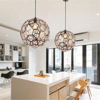 L17- Modern Stainless Steel Diamond Ball Pendant Lights Art G...