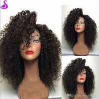 Stock 130Density Lace Front Human Hair kinky Curly Wigs For ...