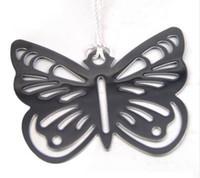 DHL Butterfly Bookmarks Metal met kwastjes Briefpapier Geschenken Bruiloft Gunsten Roestvrijstalen bladwijzers 5.7cm * 5,1 CM